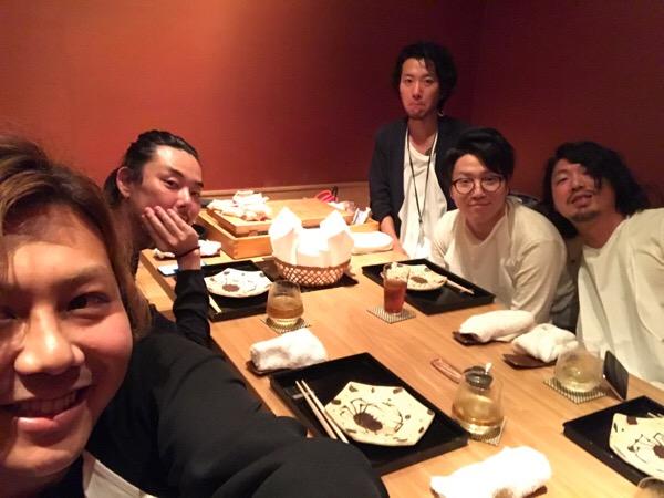 豪華なメンバーとの会食。