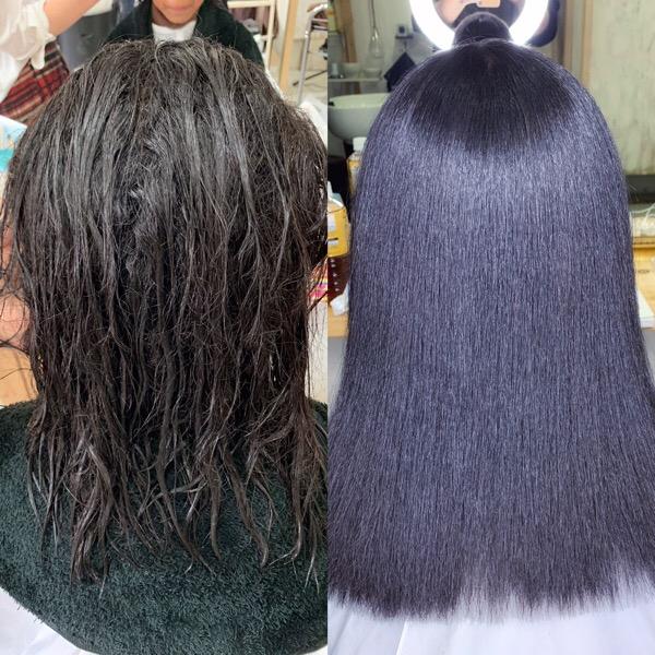 頑固なくせ毛もしっかり艶髪ストレートヘアに「ジュエリーシステム×縮毛矯正」原宿・表参道『1000人をツヤ髪にヘアケア美容師の挑戦』