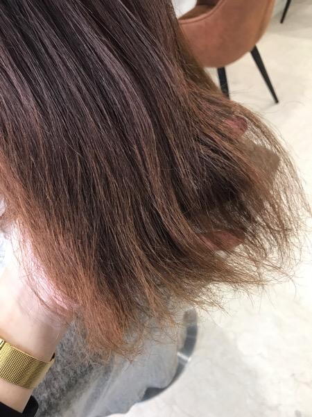 ビビリ矯正で広がった毛先をまとめる。原宿・表参道『1000人をツヤ髪にヘアケア美容師の挑戦』