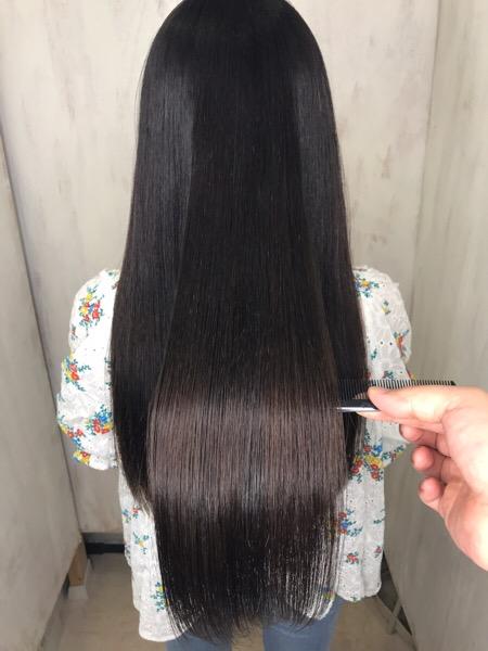 ジュエリーシステム×LULUトリートメント×縮毛矯正でつやっつやの艶髪。