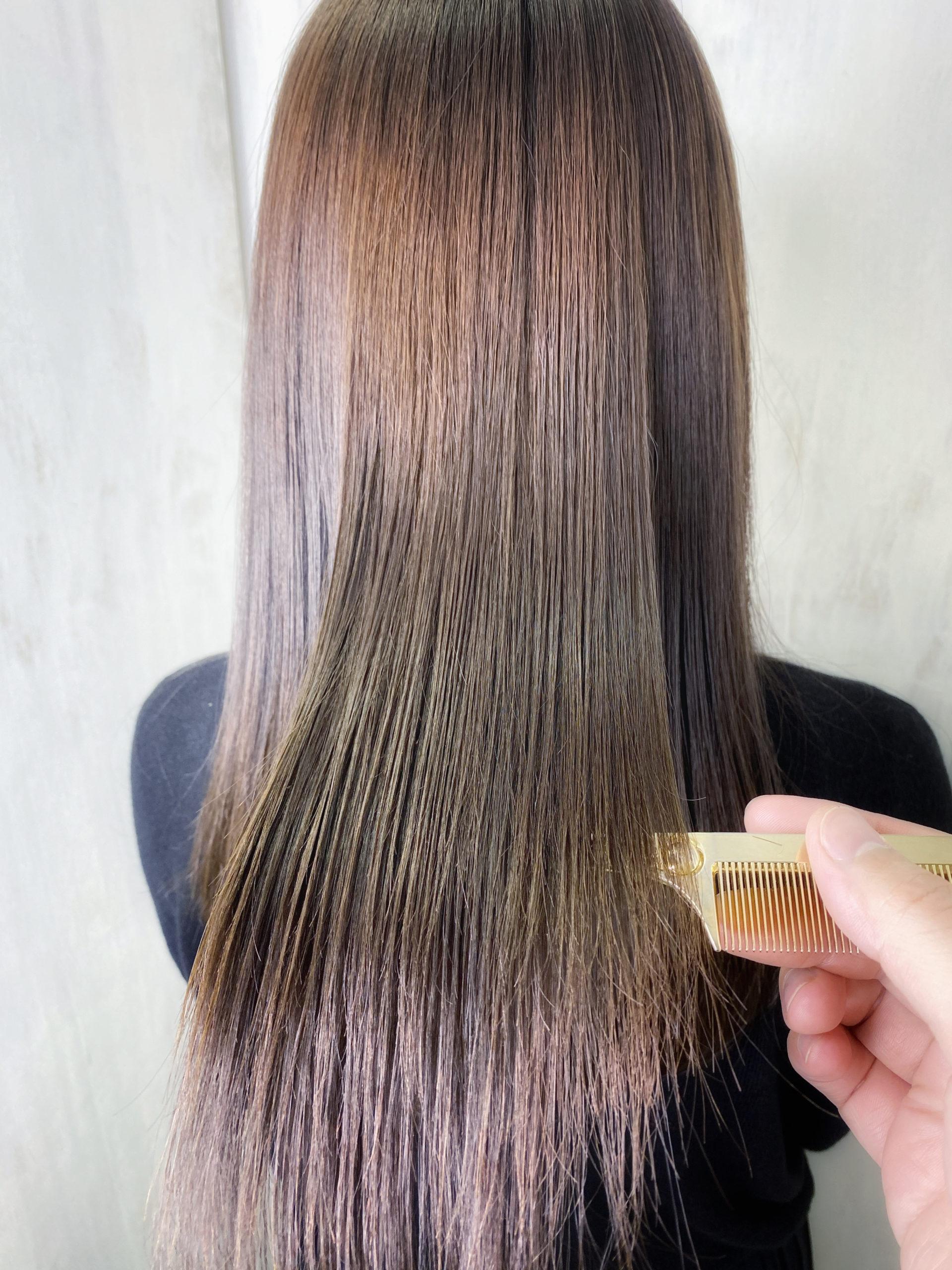 ブリーチでパサついた髪を縮毛矯正で艶髪。原宿・表参道『髪のお悩みを解決するヘアケア美容師の挑戦』