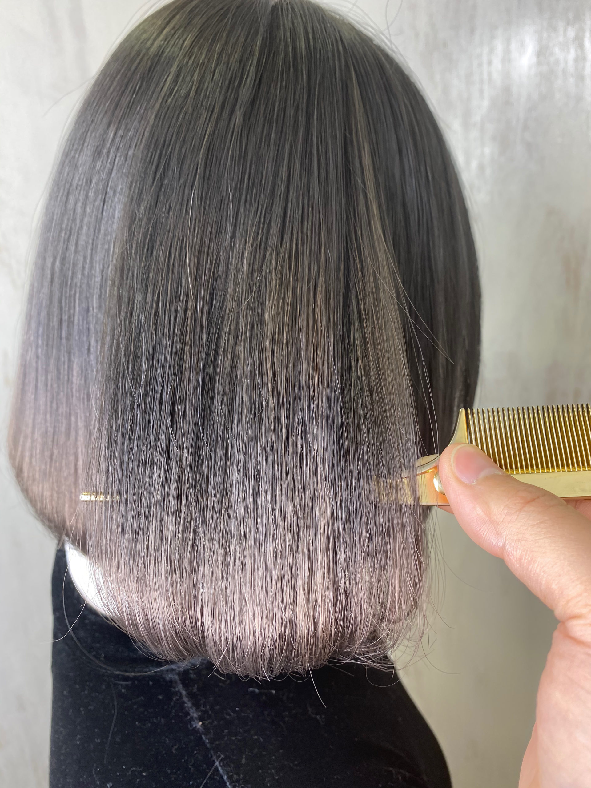 ジュエリーシステム×オレオルカラーでつるんとした艶髪カラー。原宿・表参道『髪のお悩みを解決するヘアケア美容師の挑戦』