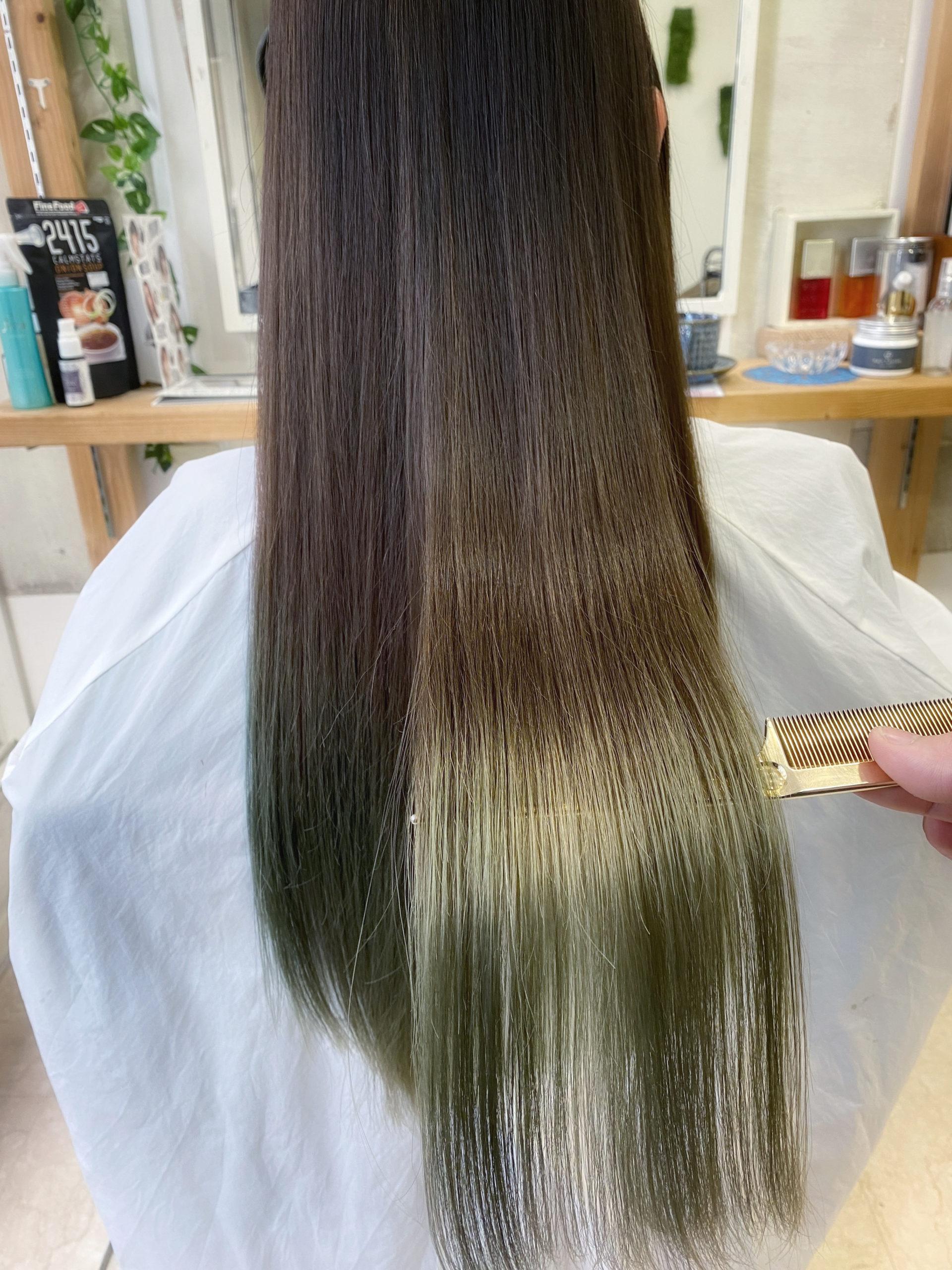 髪質改善でブリーチでパサパサになった髪を艶髪に変身。原宿・表参道『髪のお悩みを解決するヘアケア美容師の挑戦』