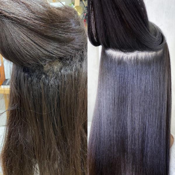 強いくせ毛の縮毛矯正でしっかりストレートヘア。原宿・表参道『髪のお悩みを解決するヘアケア美容師の挑戦』