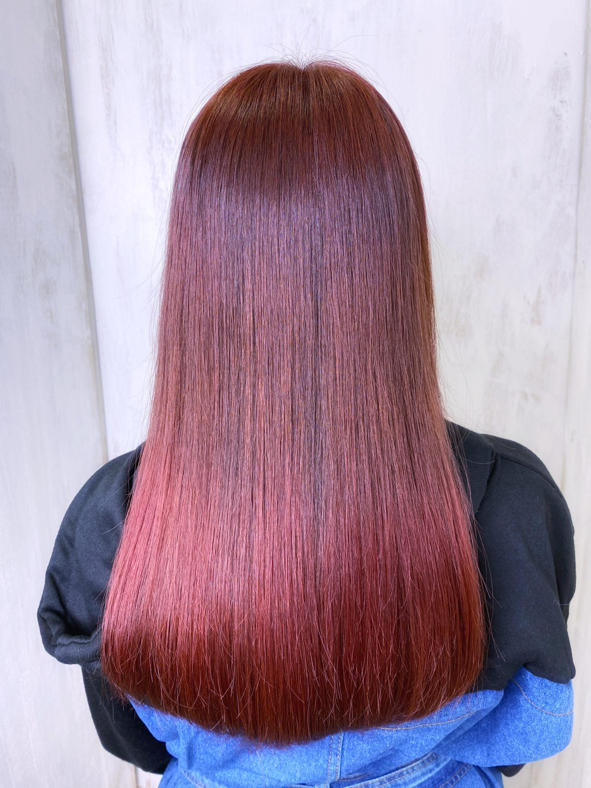 ジュエリーシステム×オレオルカラーで【チェリーレッドカラー】原宿・表参道『髪のお悩みを解決するヘアケア美容師の挑戦』