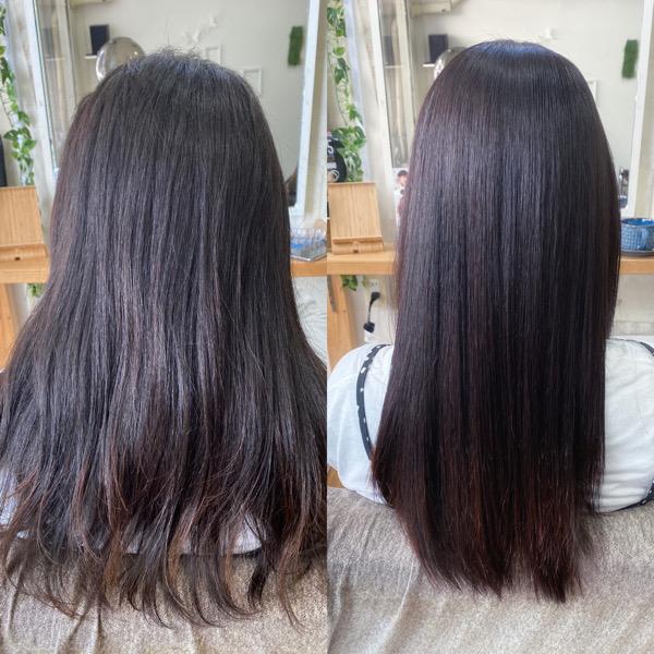 LULUトリートメント×縮毛矯正でパサつく髪を艶髪ストレート。原宿・表参道『髪のお悩みを解決するヘアケア美容師の挑戦』