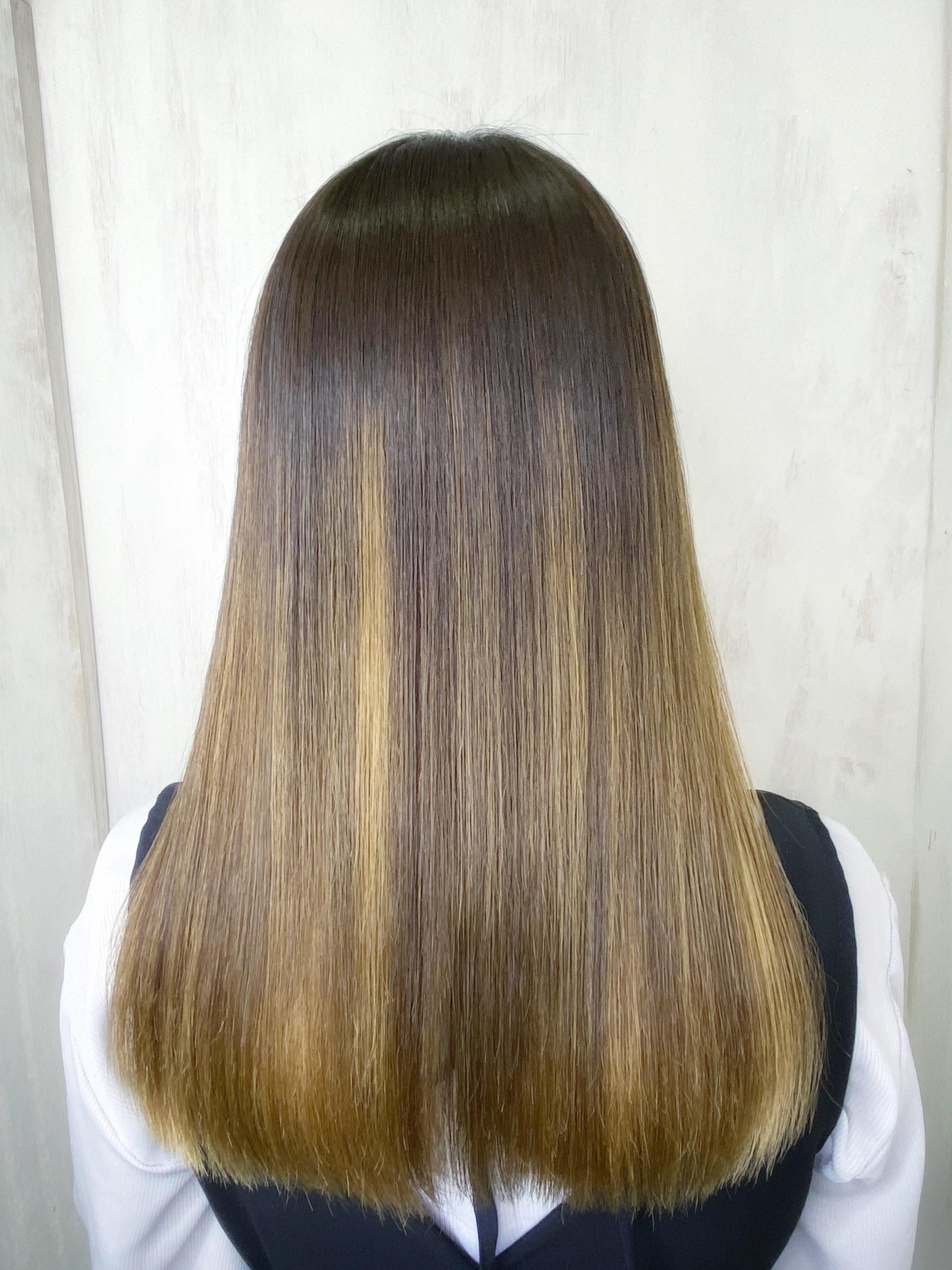 ブリーチ毛で広がり、パサつきが気になる髪の縮毛矯正。原宿・表参道『髪のお悩みを解決するヘアケア美容師の挑戦』