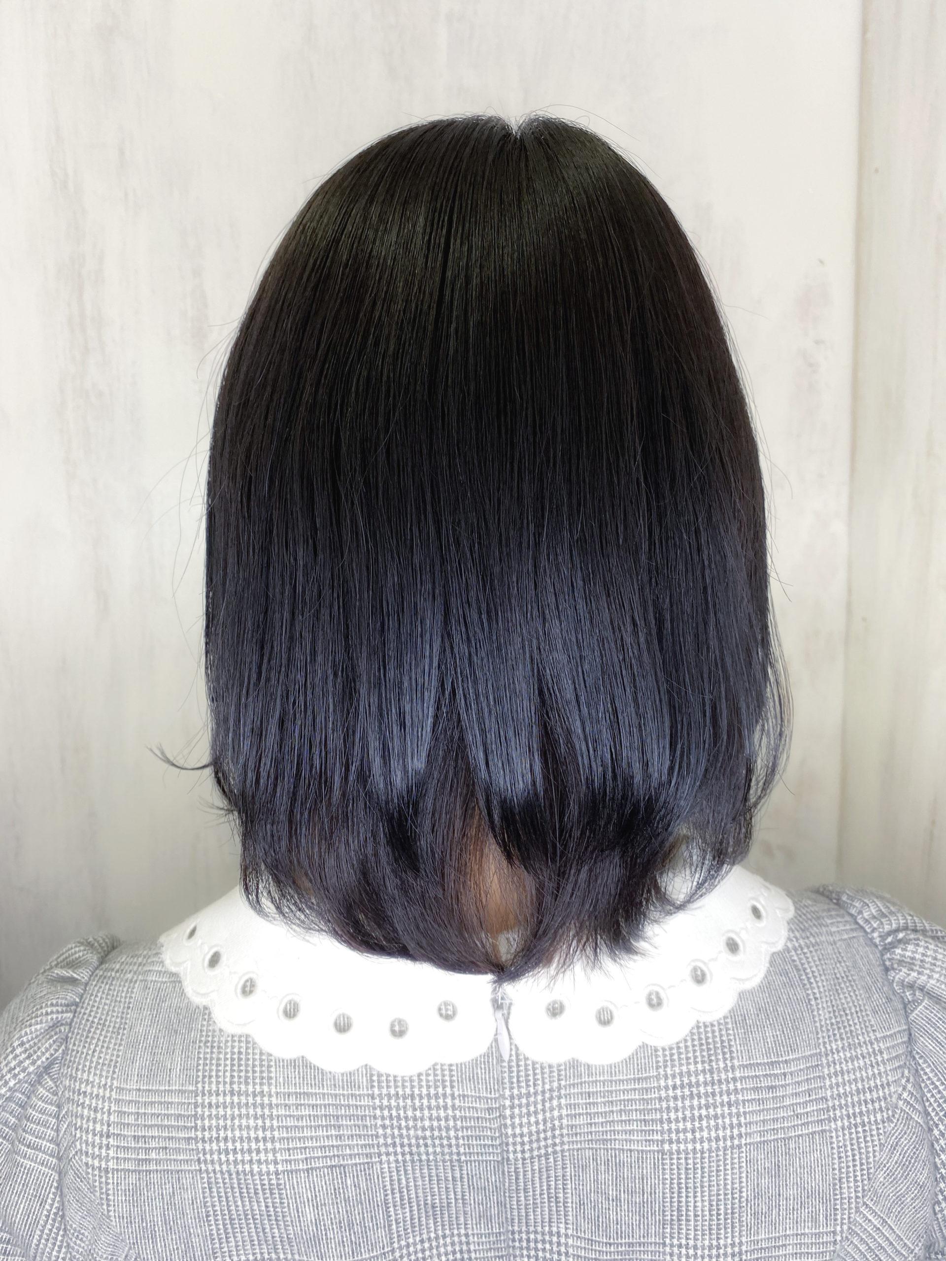 ブリーチ数回の方の縮毛矯正で艶髪ストレートヘア。原宿・表参道『髪のお悩みを解決するヘアケア美容師の挑戦』