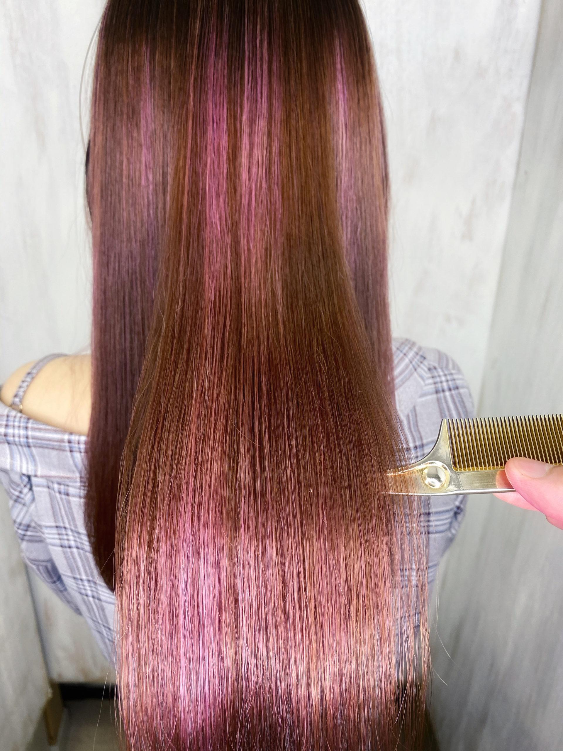 ブリーチ毛の縮毛矯正でつやっつやの艶髪。原宿・表参道『髪のお悩みを解決するヘアケア美容師の挑戦』