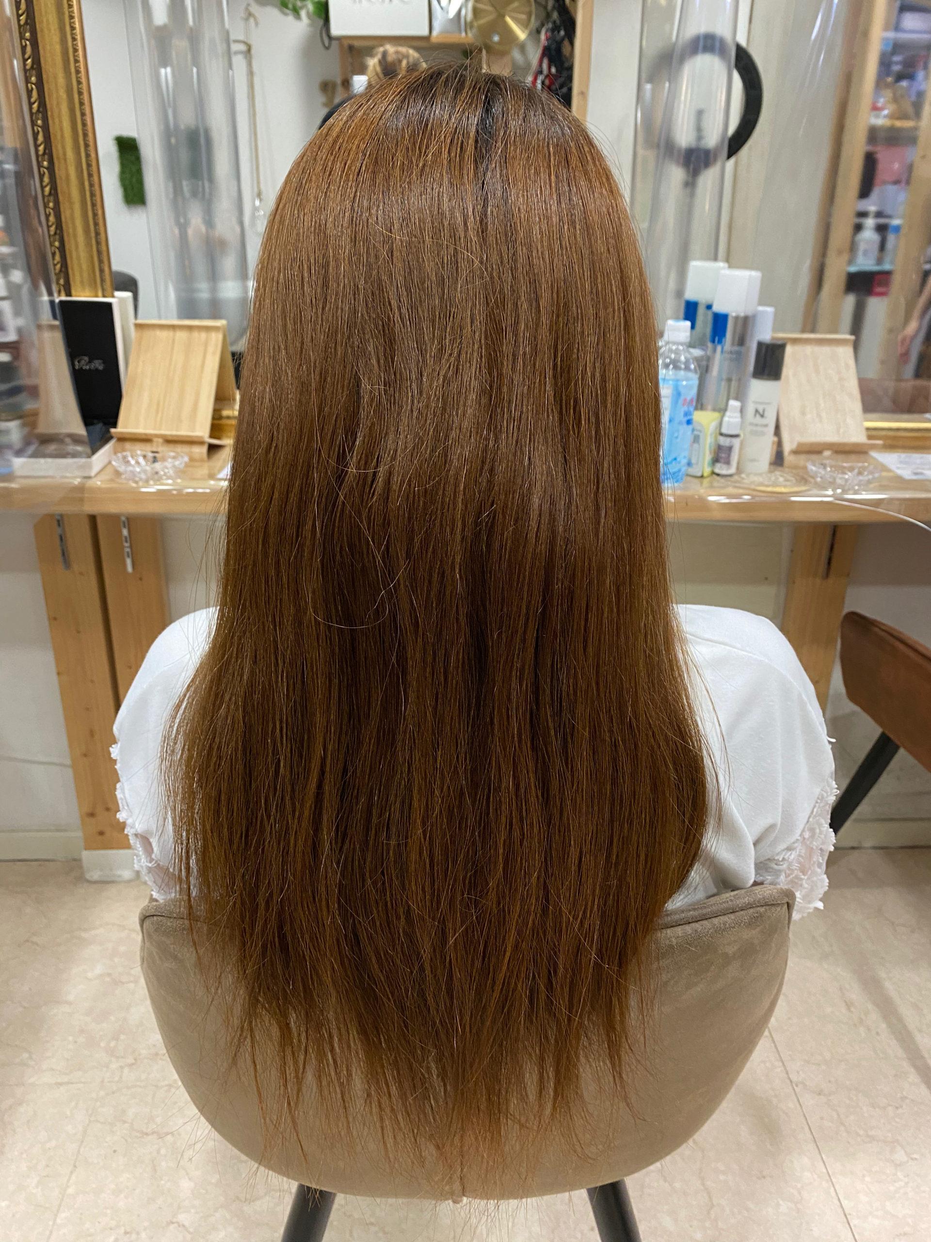 一年ぶりの縮毛矯正で艶髪ストレートヘア。原宿・表参道『髪のお悩みを解決するヘアケア美容師の挑戦』