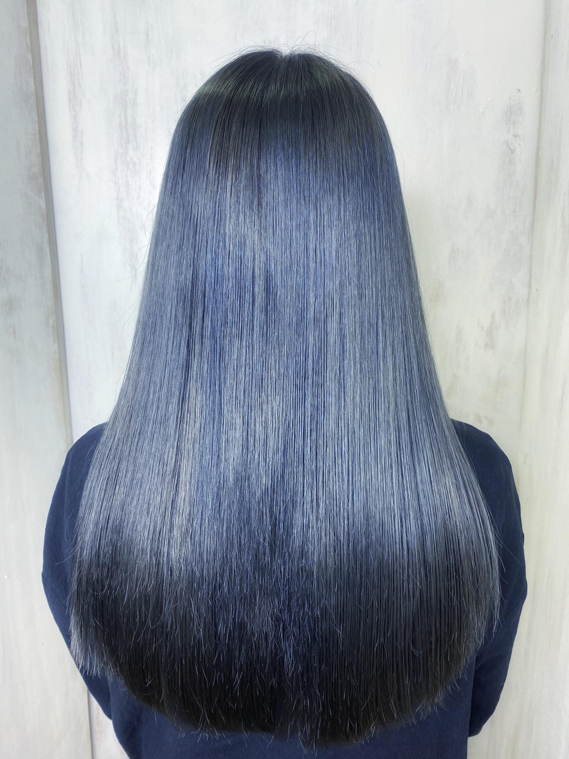 ブリーチ3回している髪の縮毛矯正とカラーで艶髪ストレートヘア。原宿・表参道『髪のお悩みを解決するヘアケア美容師の挑戦』