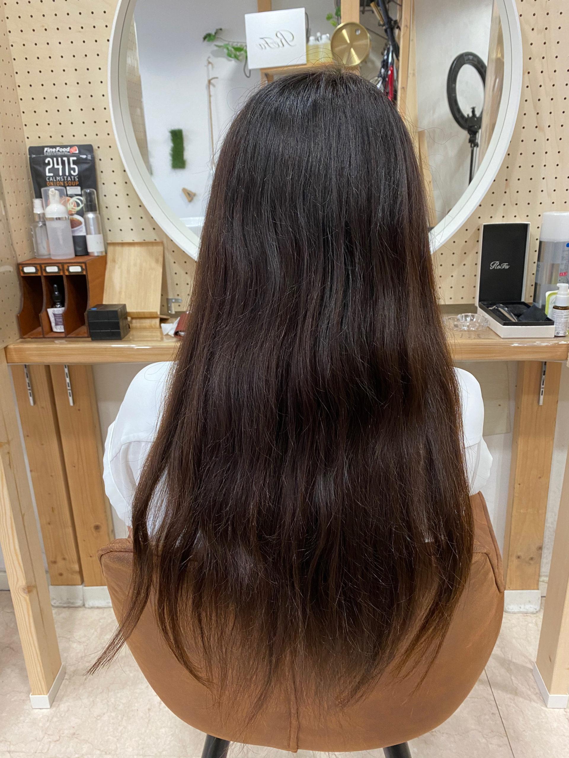 ブリーチ毛でパサつきと広がりが気になる髪をジュエリーシステムシリーズ×縮毛矯正で艶髪に変身。原宿・表参道『髪のお悩みを解決するヘアケア美容師の挑戦』