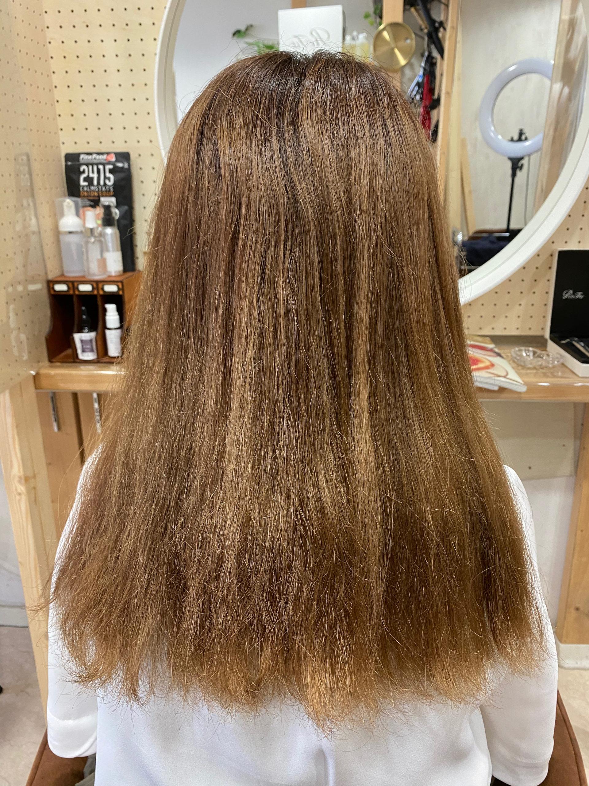 毛先のチリつきを直す【ビビリ矯正】原宿・表参道『髪のお悩みを解決するヘアケア美容師の挑戦』