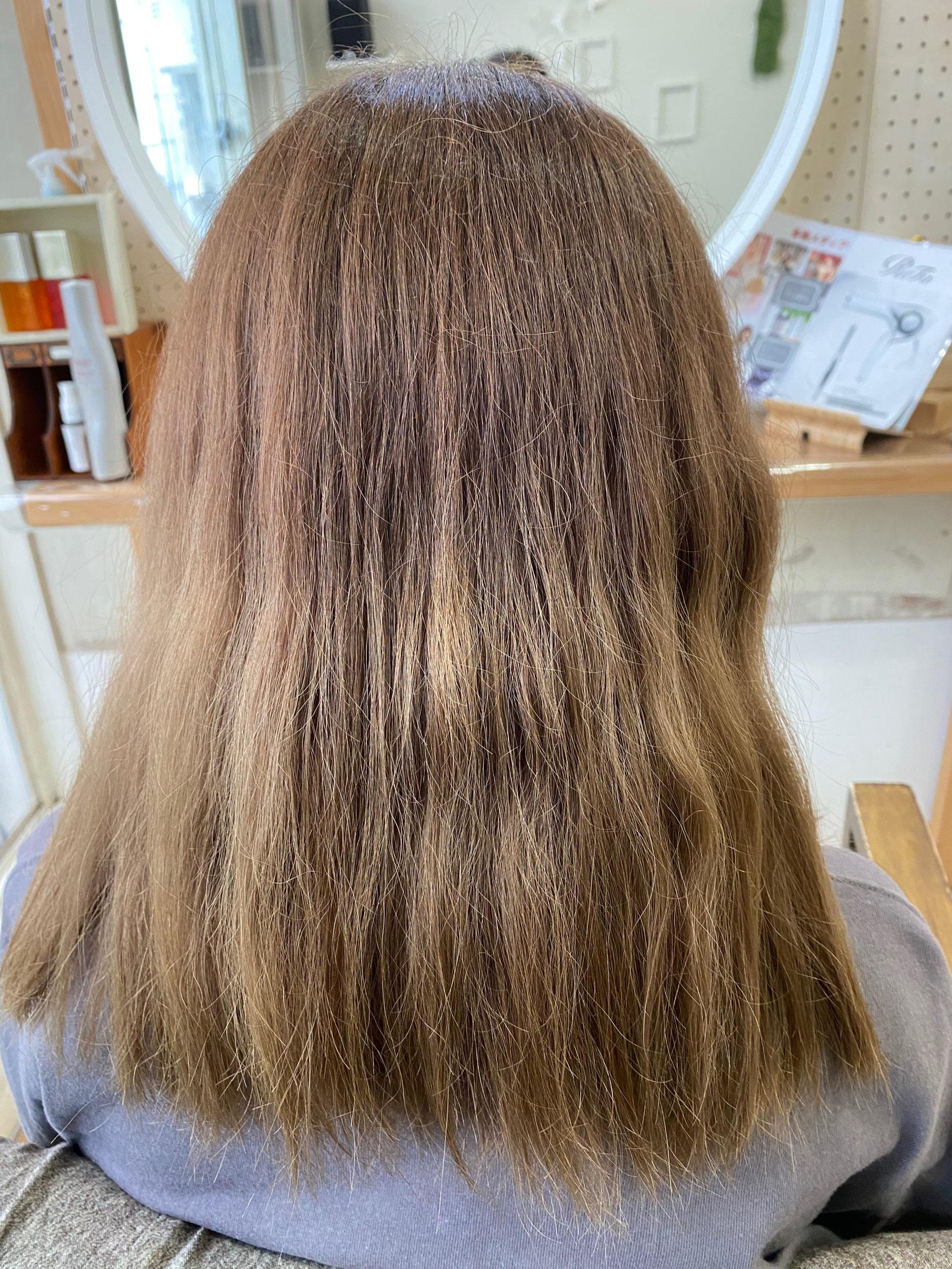 ブリーチ毛の方をジュエリーシステムシリーズ×縮毛矯正でつやっつやの艶髪ストレートヘア 原宿・表参道『髪のお悩みを解決するヘアケア美容師の挑戦』