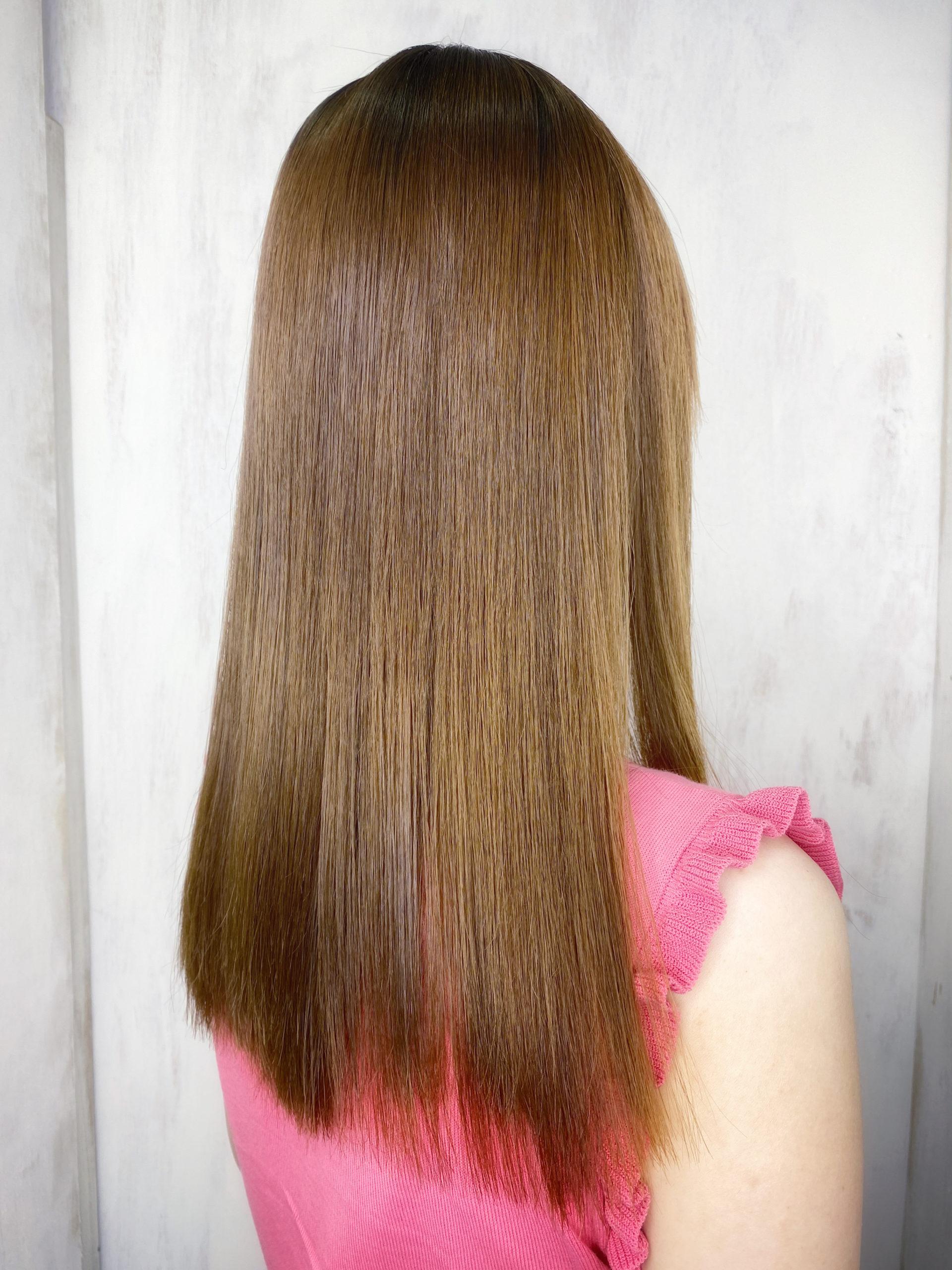 ブリーチ毛の方をジュエリーシステム×LULUトリートメント×縮毛矯正で艶髪。原宿・表参道『髪のお悩みを解決するヘアケア美容師の挑戦』