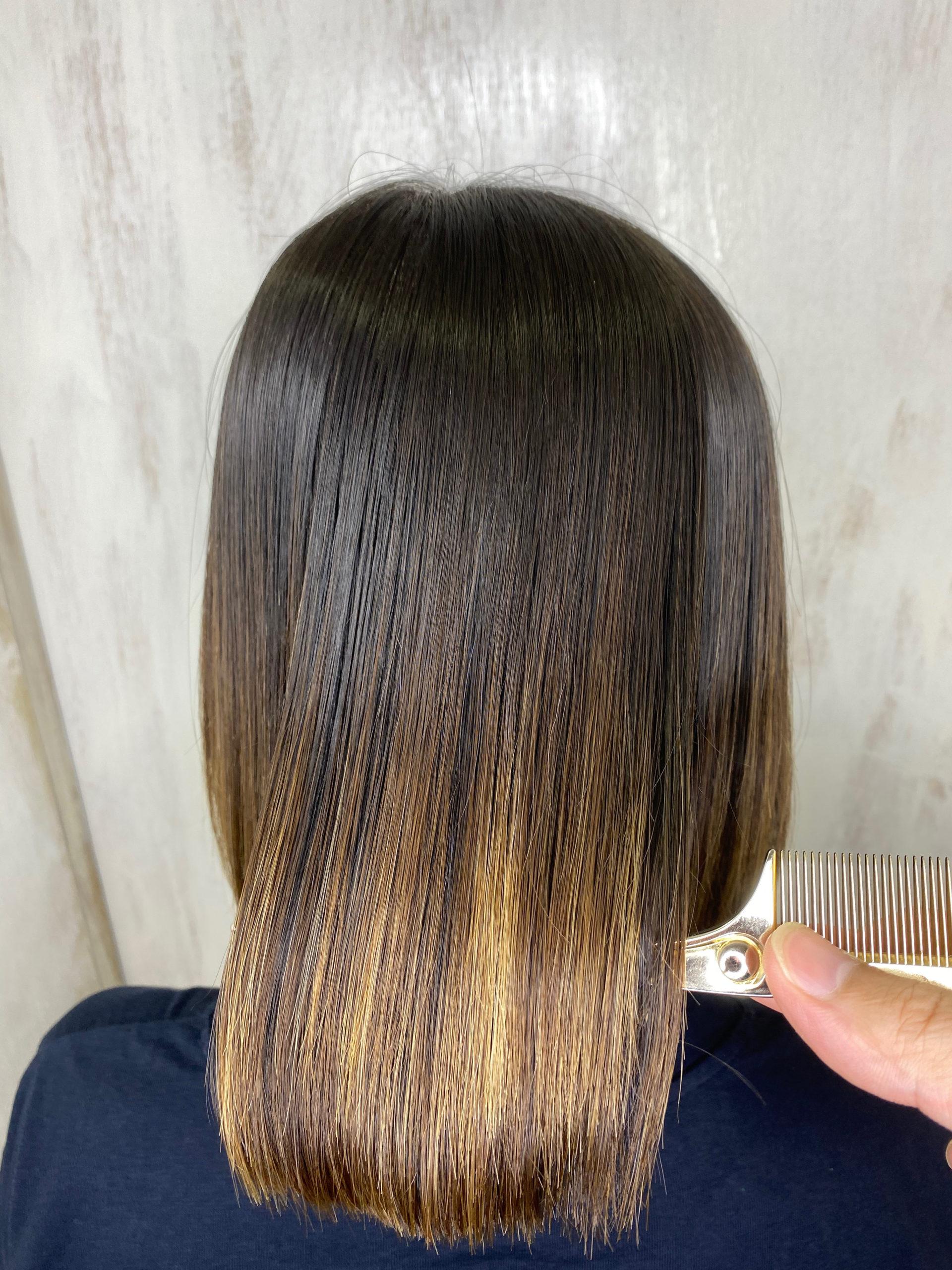 ブリーチ毛で広がりが気になる方を縮毛矯正で艶髪ボブ。原宿・表参道『髪のお悩みを解決するヘアケア美容師の挑戦』