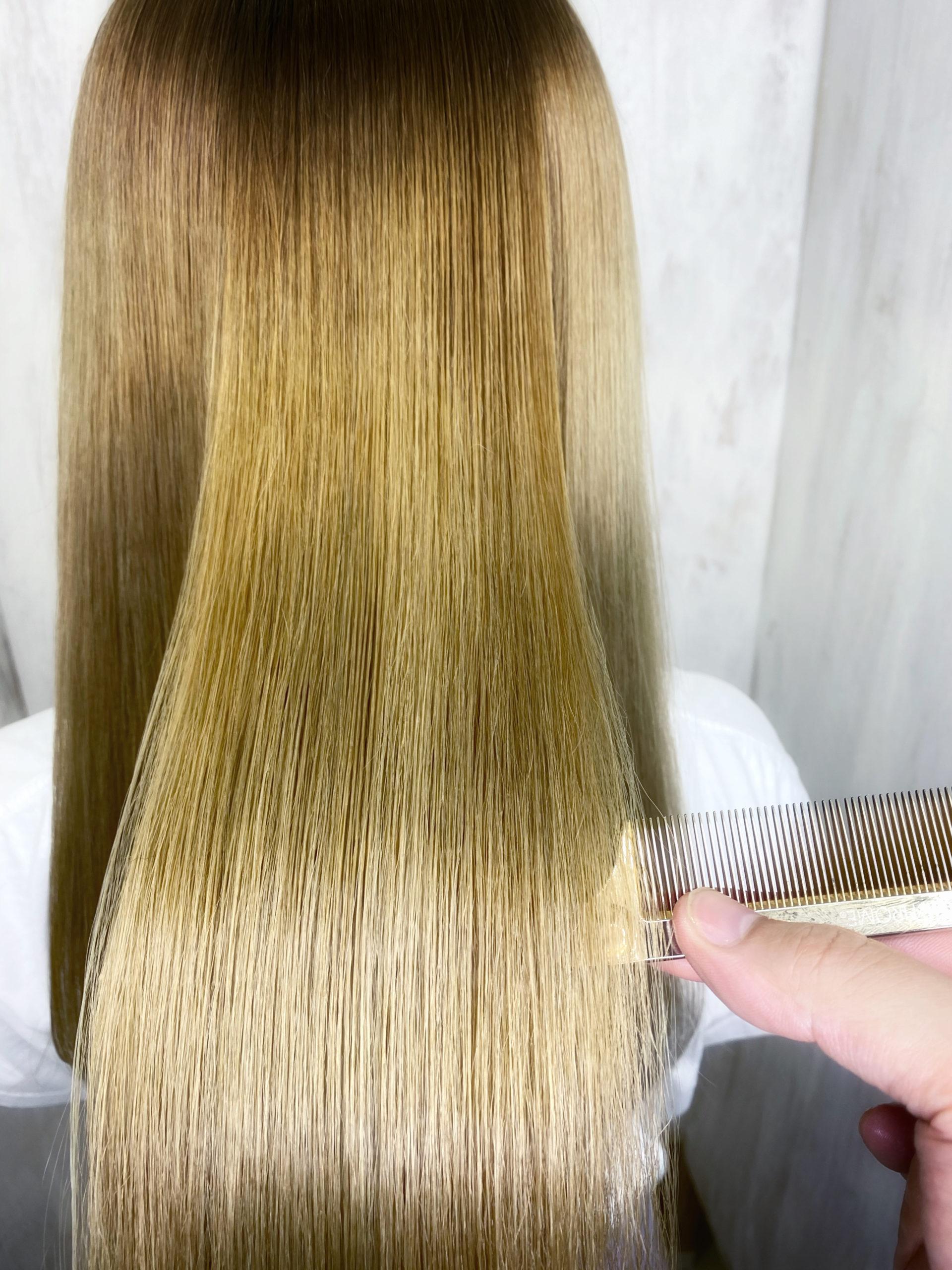 ブリーチ毛でくせ毛にお悩みの方を縮毛矯正で艶髪ストレートヘア。原宿・表参道『髪のお悩みを解決するヘアケア美容師の挑戦』