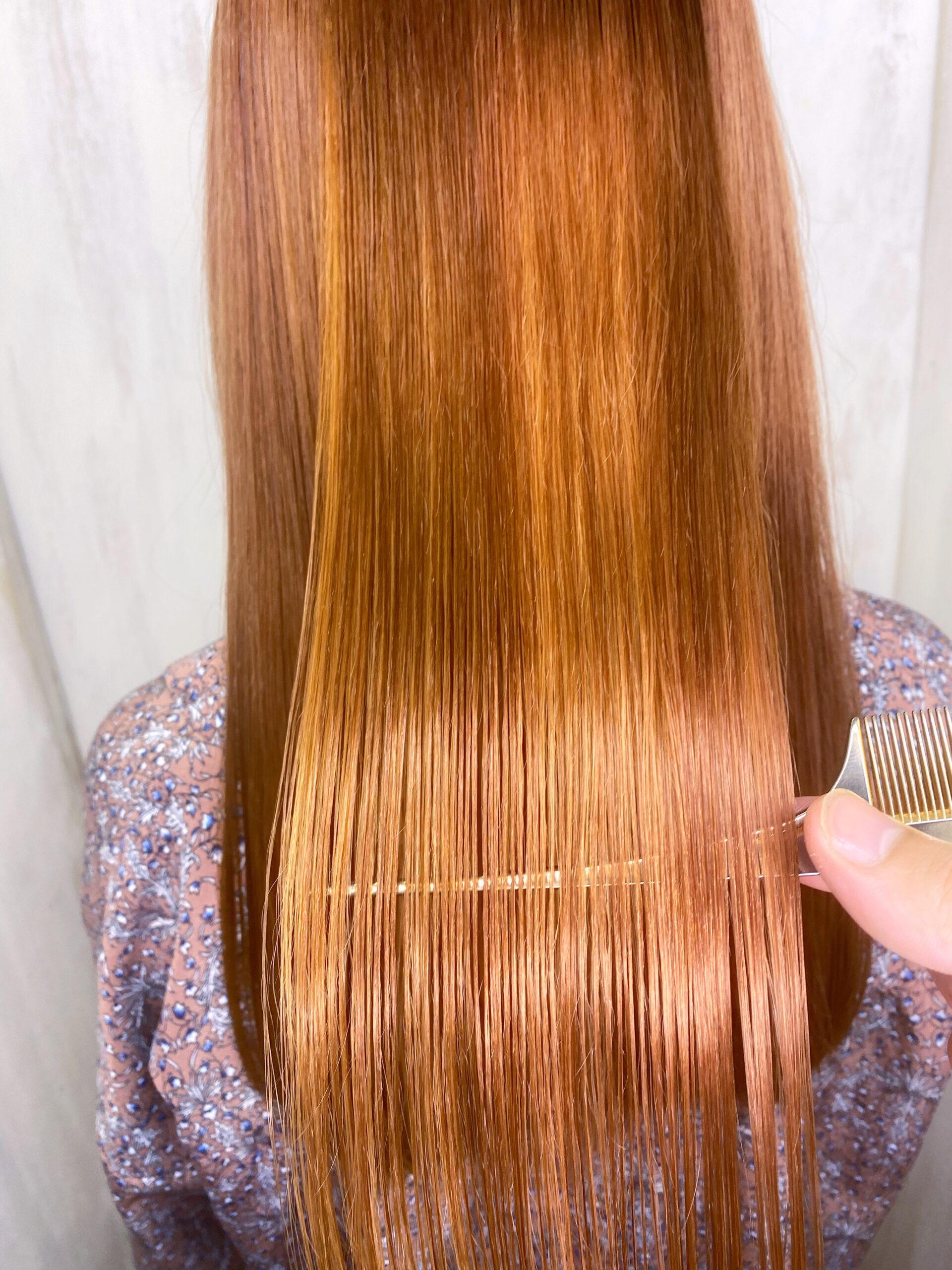 ブリーチを数回している方の縮毛矯正。原宿・表参道『髪のお悩みを解決するヘアケア美容師の挑戦』