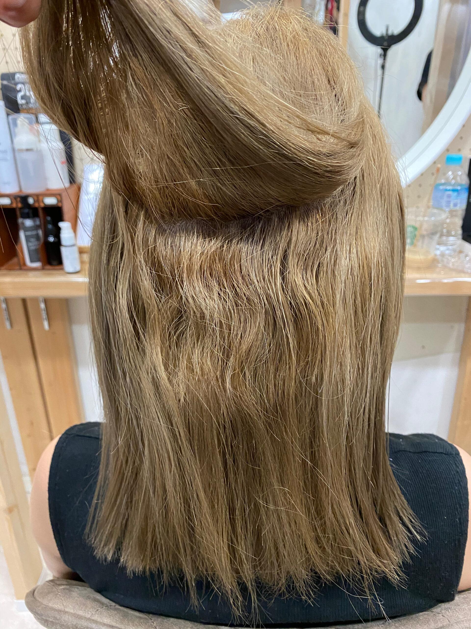 ブリーチ毛の方をジュエリーシステムシリーズ×縮毛矯正で艶髪ストレートヘア。原宿・表参道『髪のお悩みを解決するヘアケア美容師の挑戦』