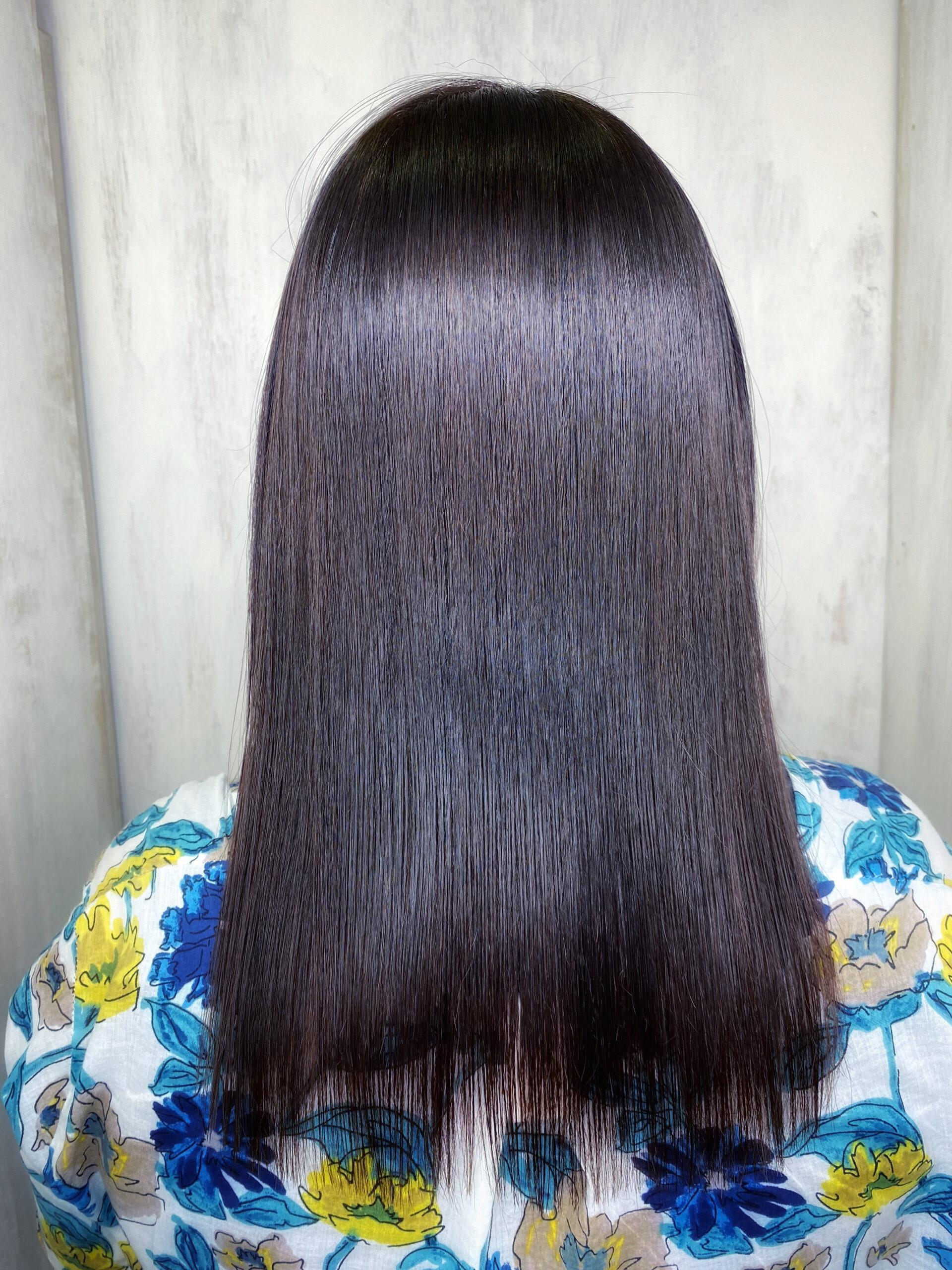 ビビリ矯正とオレオルカラーで艶髪ストレートヘア。原宿・表参道『髪のお悩みを解決するヘアケア美容師の挑戦』