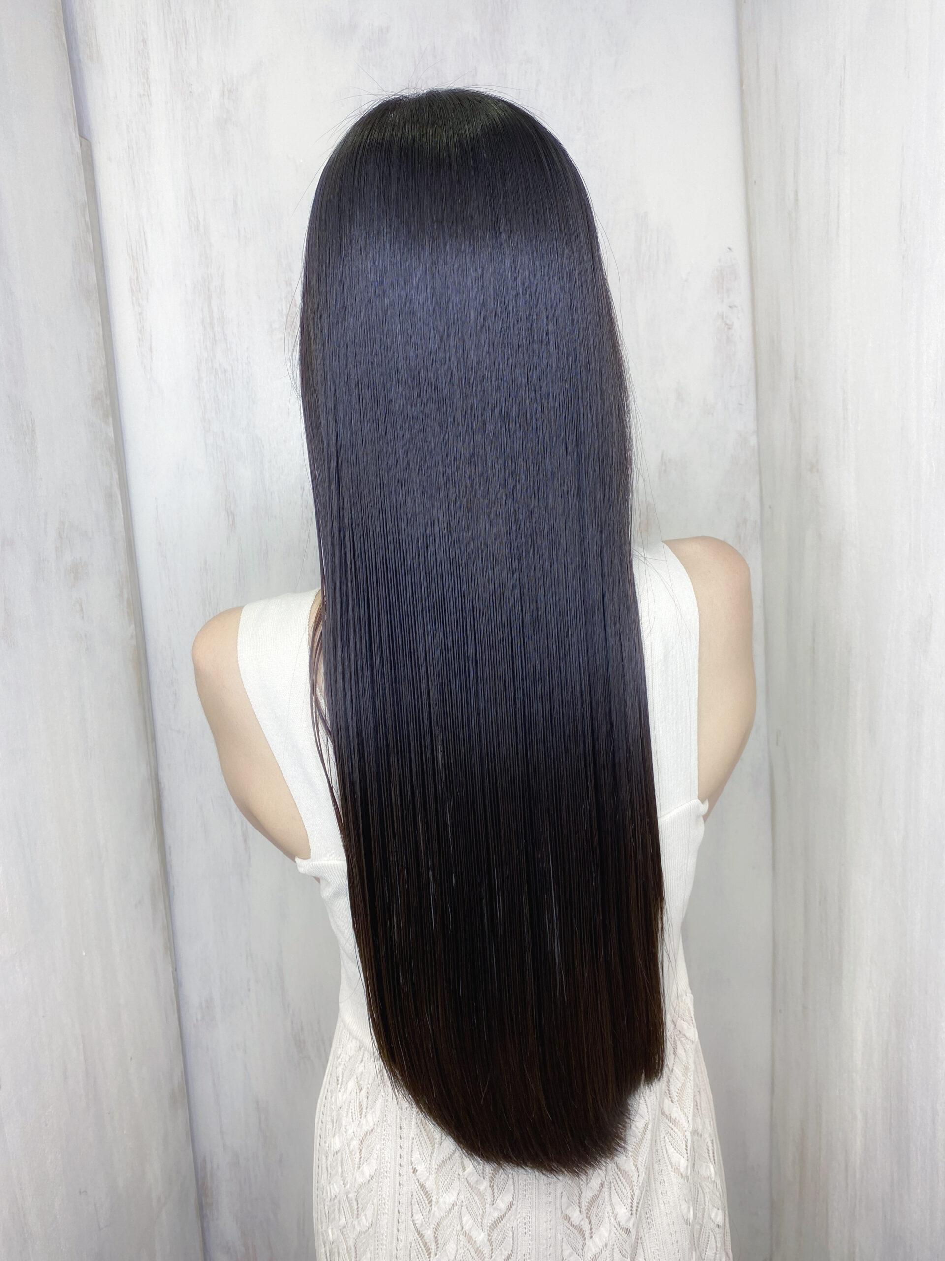 デジタルパーマでパサついてしまった髪を【ジュエリーシステム×LULUトリートメント×縮毛矯正】で艶髪。