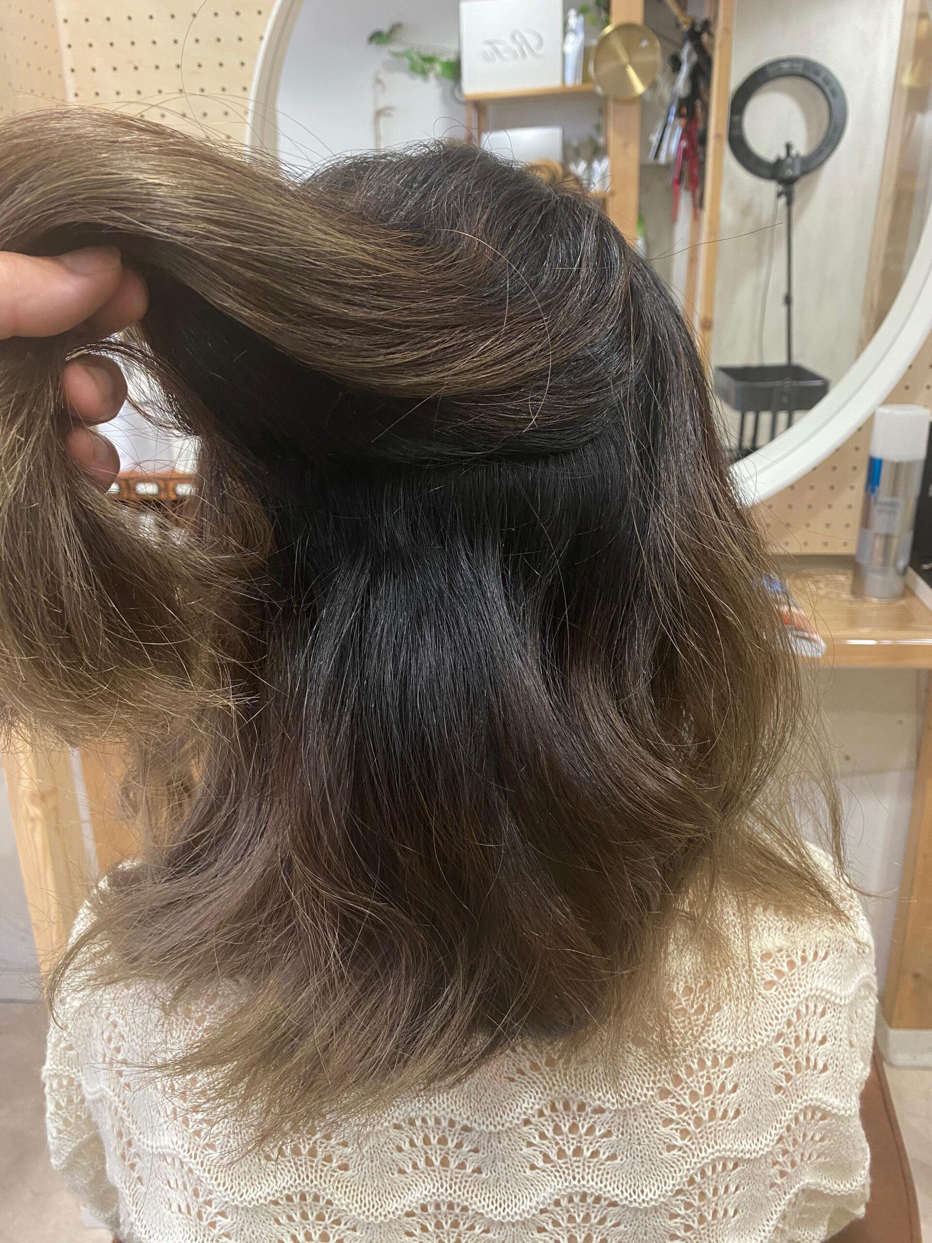ブリーチ毛の方をジュエリーシステム×LULUトリートメント×縮毛矯正で艶髪。